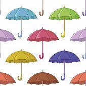 Umbrella, seamless background