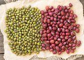 Azuki Beans And Mung Beans
