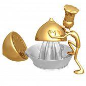 Golden Chef Baker Making Lemonade