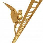 Angel Climbing Golden Ladder