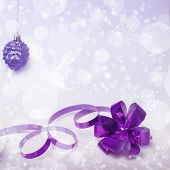 Christmas Lilac Tint Background