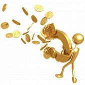 Money Magnet Attracting Gold Dollar Coins