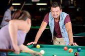 Snooker playing