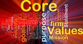 Core Values Background Concept Glowing