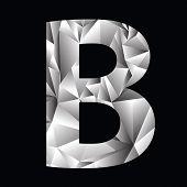 Crystal Letter  B