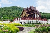 Thai Temple And Beautiful Nature