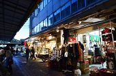 Tokyo, Japan - November 26, 2013: People Shopping At Tsukiji Market
