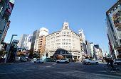 Tokyo, Japan - November 26, 2013:  Tourist Visit Ginza Crossroad