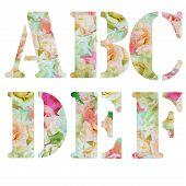 Floral vintage ABC