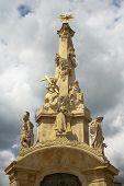 The historic baroque column.