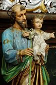 Joseph and Jesus baroque sculpture