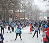 Start Ski Race At A Distance Of 5 Km.