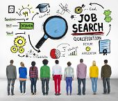 stock photo of recruiting  - Ethnicity Business People Searching Job Search Recruitment Concept - JPG
