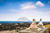 Hachijojima, Izu Islands, Tokyo, Japan. Coastal view of Little Hachijo Island (Hachijokojima).
