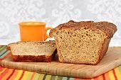 A Homemade Loaf Of Honey Quinoa Bread.