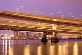 stock photo of kanto  - Access to Rainbow Bridge Odaiba Tokyo Kanto Region Honshu Japan - JPG