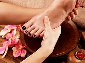 picture of spa massage  - Massage of woman - JPG