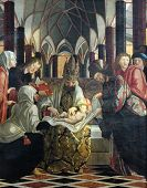 ST. WOLFGANG, AUSTRIA - DECEMBER 14: Circumcision of Jesus, main altar in Parish church in St. Wolfgang on Wolfgangsee in Austria on December 14, 2014.