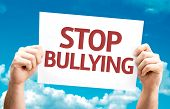 Stop Bullying card with sky background