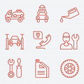 foto of wreckers  - Car service icons - JPG