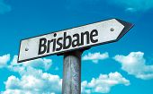Brisbane sign with sky background