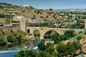 Tajo River And The Alcantara Bridge, Toledo, Spain
