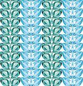 Aquamarine Leaves Seamless Texture Vector