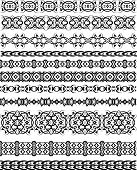 Tribal Tattoo Border Seamless Design