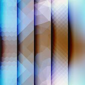 Vertical geometric strikes in different textures.