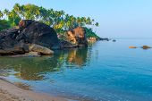 Calm Ocean In A Beautiful Tropical Lagoon
