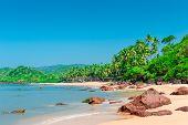 Deserted Tropical Beach On A Sunny Day