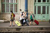 People Waiting At Keleti West Train Station