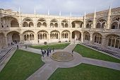 People Visit Monastery Of Jeronimos