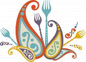 Decorative Paisley Dinner Party Celebration Forks