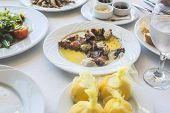 pic of piraeus  - Octopus in a Greek restaurant - JPG