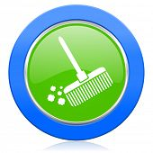 broom icon clean sign