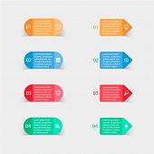 stock photo of prospectus  - Vector paper stickers and labels with realistic shadows for infographic  - JPG