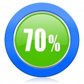 70 percent icon sale sign