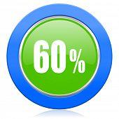 60 percent icon sale sign
