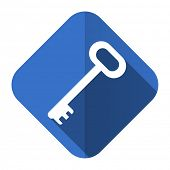 key flat icon secure symbol