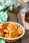 Cheese Cookies With Olives And Sun-dried Tomatoes