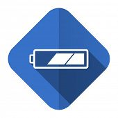 battery flat icon charging symbol power sign