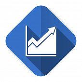 histogram flat icon stock sign