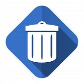 recycle flat icon recycle bin sign