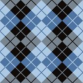 Argyle Design in Black and Blue