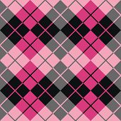 Argyle Design in Black and Pink