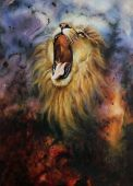 Abstract Cosmical Lion