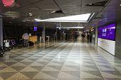 HELSINKI - SEP 20: Helsinki Airport interior on September 20, 2014 in Helsinki, Finland. Helsinki Airport is the main international airport of the Helsinki metropolitan region and the whole of Finland