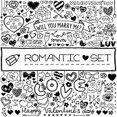 Doodle romantic set