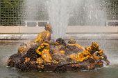 Bacchus Fountain (autumn Fountain) In Gardens Of Versailles Palace